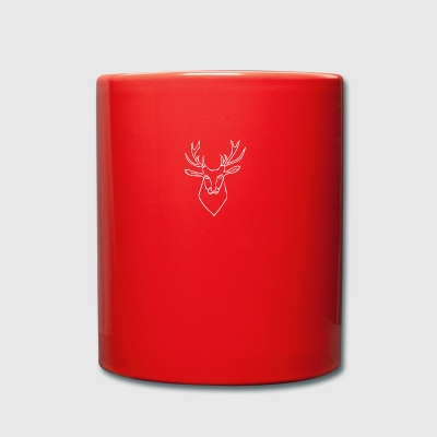 Deer white - Full Colour Mug