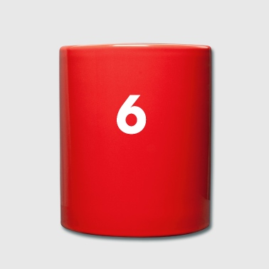 Number 6, number 6, 6, six, number six, six - Full Colour Mug