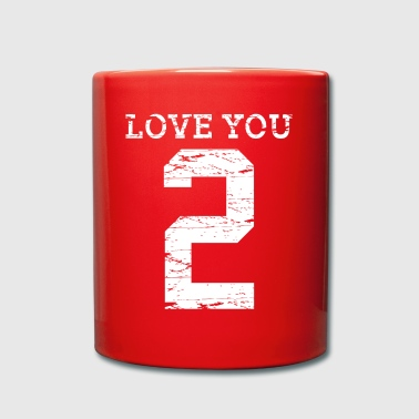 Love You 2 - Ensfarvet krus