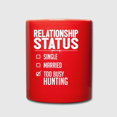 Relationship status hunting - Full Colour Mug