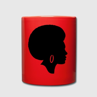 Woman afro silhouette - Full Colour Mug