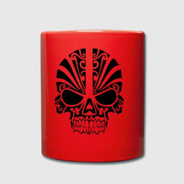 Skull with pattern - Full Colour Mug
