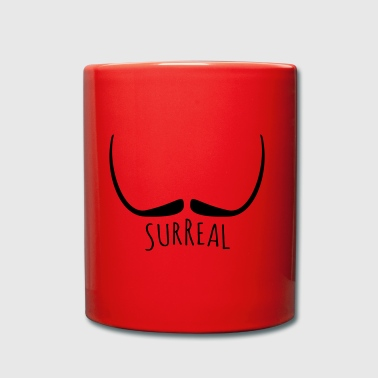 moustache surréaliste - Surreal - Tasse en couleur