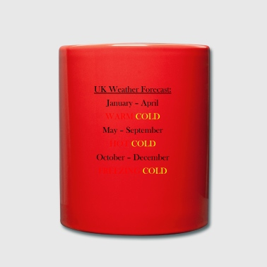 UK Weather Joke - Tasse en couleur