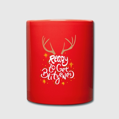 CHRISTMASALCOHOL Ready to get blitzened - Full Colour Mug