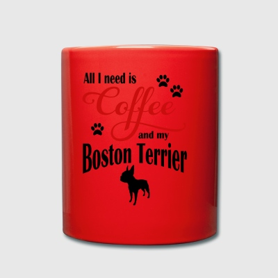 Boston Terrier Coffee - Full Colour Mug