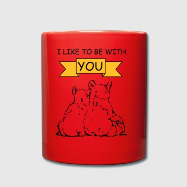 bear-couple-i-like-to-be-with-you - Tasse einfarbig