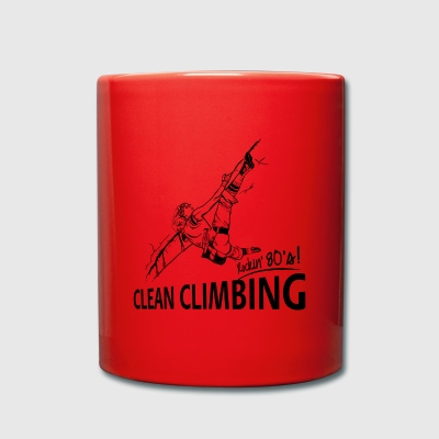 80s Climbing - clean climbing - Full Colour Mug