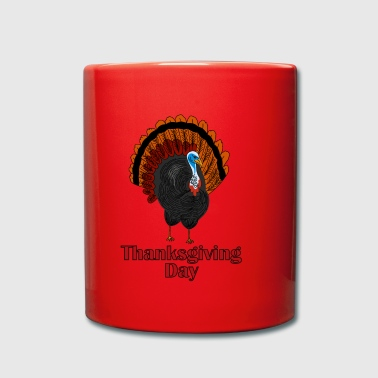 dinde de Thanksgiving - Tasse en couleur