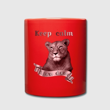 Keep calm Slow Down copper animal collection - Full Colour Mug
