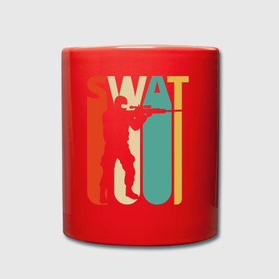 Vintage Retro Swat Team. CO19. Swat Officer Gifts - Enfärgad mugg
