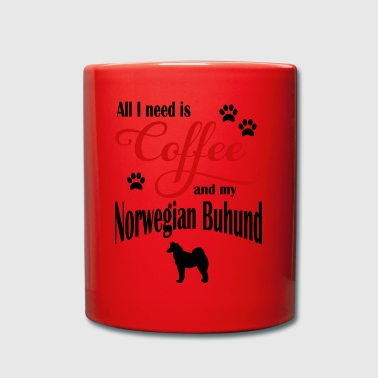 Norwegian Buhund Coffee - Full Colour Mug