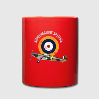 Retro Design Supermarine Spitfire Warbird Airplane - Full Colour Mug