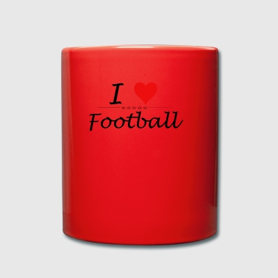 J'aime le football - Tasse en couleur