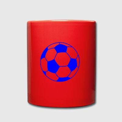Blue football - Full Colour Mug