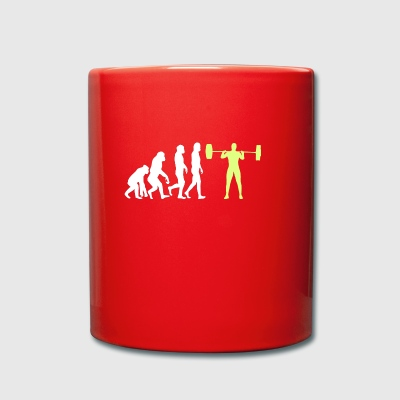 Evolution - Bodybuilder T-Shirt Gift - Full Colour Mug