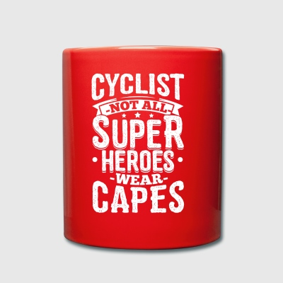 Funny Bicycle Cycling Shirt Not All Superheroes - Full Colour Mug