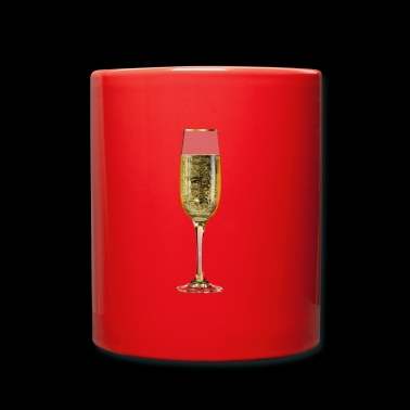 Champagne sparkling glass - Full Colour Mug