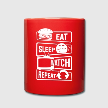 Mangez Sleep Watch Repeat - TV montre Couch TV - Mug uni