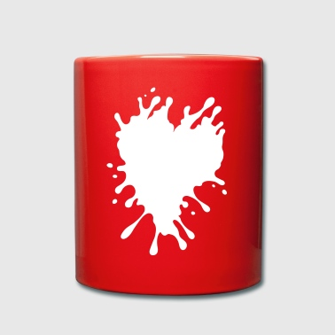 Splatter Heart - Full Colour Mug