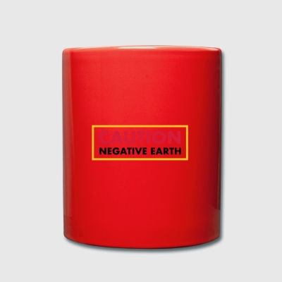 Caution Negative Earth - Full Colour Mug