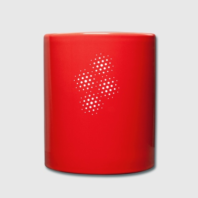 abstract dots - Full Colour Mug