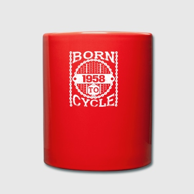 born cycle mountainbike gift birthday 1958 - Tasse einfarbig