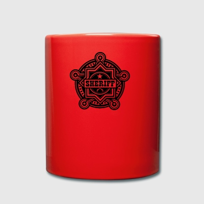 Badge of sheriff or Marshall - Full Colour Mug