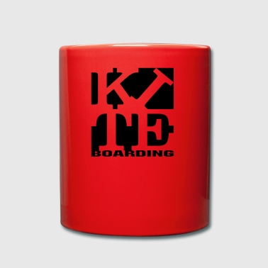 kite homage to robert Indiana boarding black - Full Colour Mug