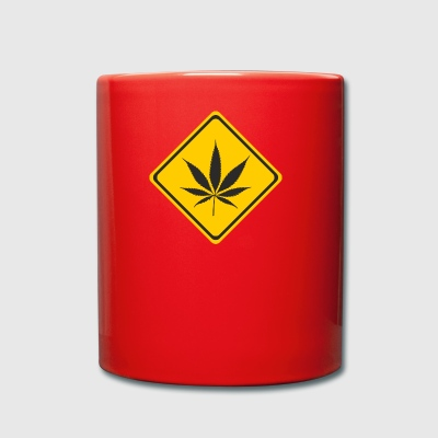 cannabis Attention - Tasse en couleur