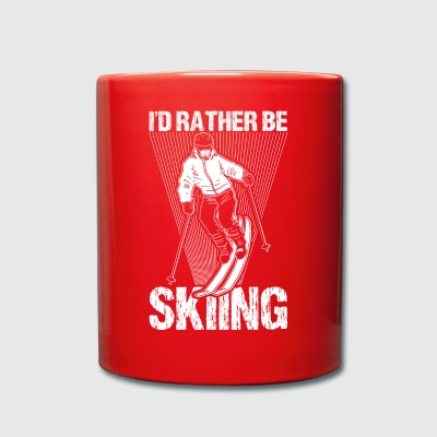 Skier Skiing Ski Rather Be Skiing Gift - Full Colour Mug