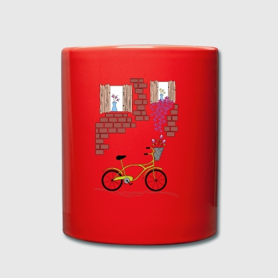 village with bicycle - Full Colour Mug