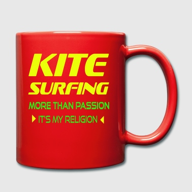 KITEBOARD PLUS DE PASSION - ITS MY RELIGION - Tasse en couleur