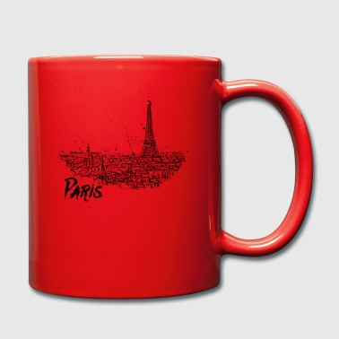 Paris - city view Sketch with Eiffel Tower - Full Colour Mug