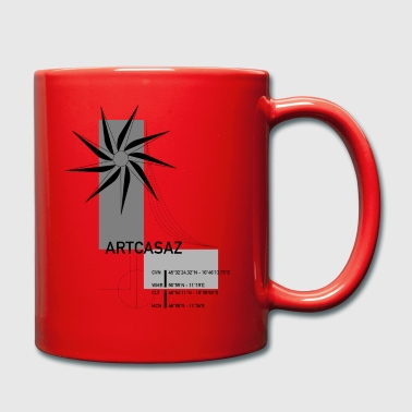 Artcasaz logo fashion geographical graphics - Full Colour Mug
