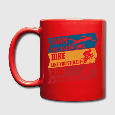 Swim - Bike - Run - Tasse einfarbig