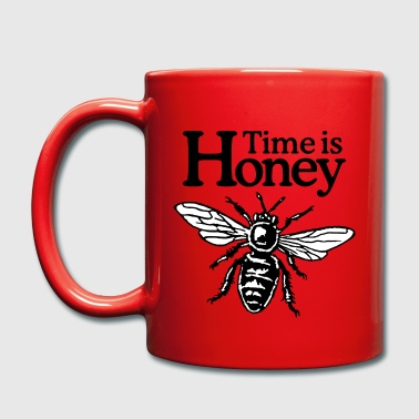 Time Is Honey Beekeeper Quote Design (two-color) - Mok uni