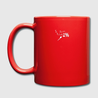 I am the one percent - I am the 1% - sperm - Full Colour Mug