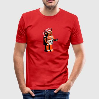 robotnik dance - old school robots - Männer Slim Fit T-Shirt