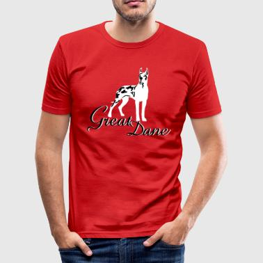 great_dane_cropped - Männer Slim Fit T-Shirt