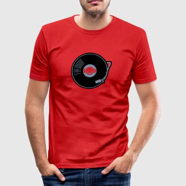 DJ-Toney record A-side - slim fit T-shirt