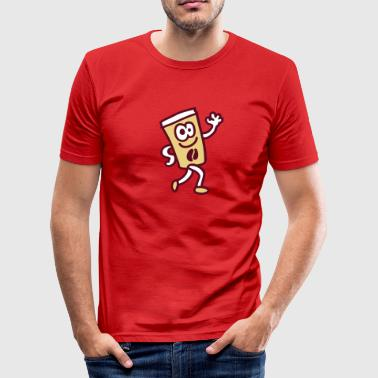 Coffee To Go Becher Coffee to go 3 - Männer Slim Fit T-Shirt