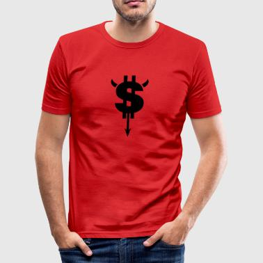 Djævle-dollartegn - Herre Slim Fit T-Shirt