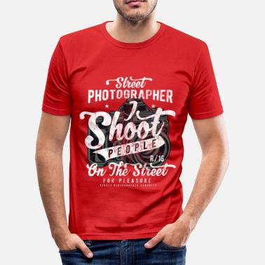 Digitale Camera Straatfotograaf - Cam camera shirtgift - slim fit T-shirt