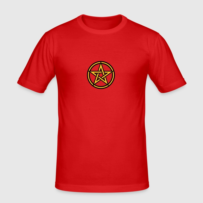 Pentagram amulet- Sign of intellectual omnipotence and autocracy. 2c, Star of the Magi , powerful symbol of protection - Men's Slim Fit T-Shirt