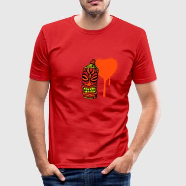 SPRAY A HEART TIKI (UK) - Men's Slim Fit T-Shirt