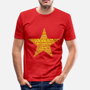 Bakunin socialism word cloud - Men's Slim Fit T-Shirt