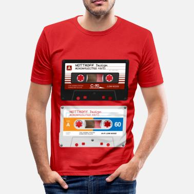 Tape Tapes Minimalectro - Männer Slim Fit T-Shirt