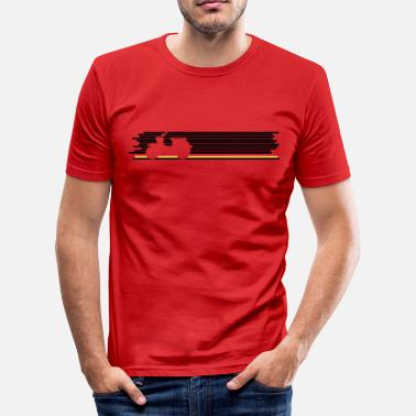 Made In East Germany Deutschland-Shirt Schwalbe - Männer Slim Fit T-Shirt