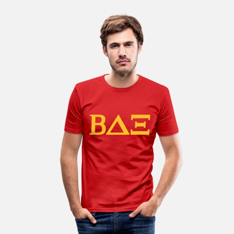 Beta T-Shirts - Beta House - Mannen slim fit T-shirt rood
